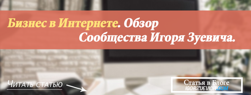 Бизнес в интернете. Обзор Сообщества Игоря Зуевича