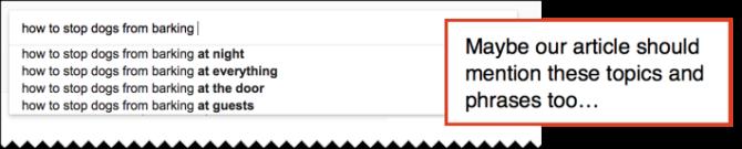 подсказки поисковой строки
