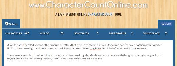 CharacterCountOnline