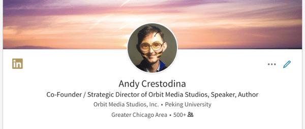 фото профиля в Linkedin