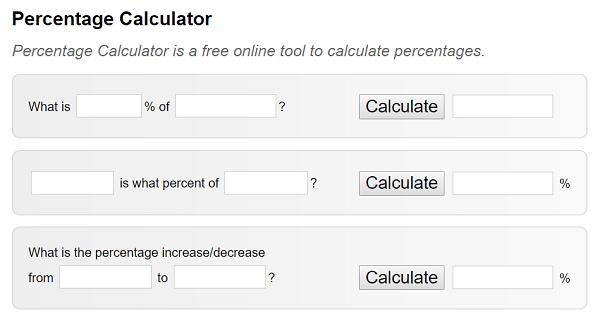 PercentageCalculator