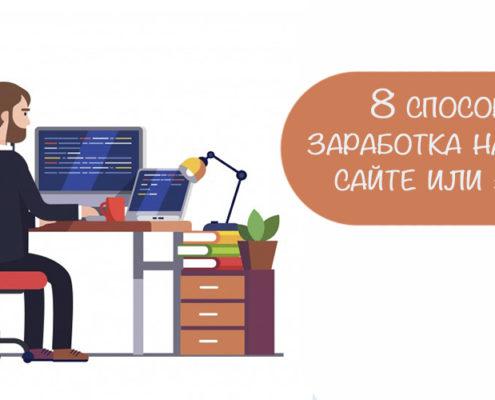 Способы заработка на сайте