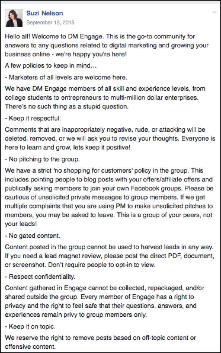 правила группы