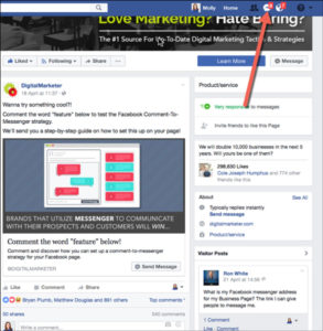 Comment-to-Messenger Facebook