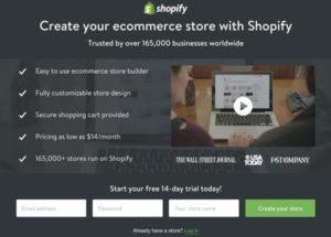 лендинг Shopify