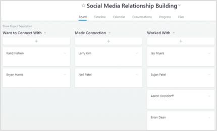 Social Media Relationship Building