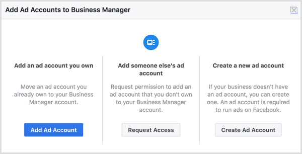рекламный аккаунт